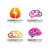 Molde do logotipo da tecnologia do cérebro ícone do vetor da tecnologia do cérebro ilustração do vetor
