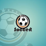 Molde do logotipo do futebol Foto de Stock