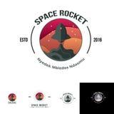 Molde do logotipo do lançamento de Rocket de espaço Imagens de Stock