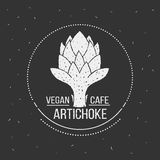 Molde do logotipo do menu do café do vegetariano Projeto do alimento do vetor Fotos de Stock
