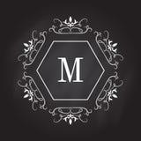 Molde do logotipo do monograma Projeto da identidade para a loja, o restaurante, o salão de beleza, o boutique ou o hotel ilustração stock