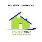 Molde do logotipo dos bens imobiliários imagem de stock