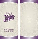Molde do menu ilustração royalty free