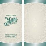 Molde do menu ilustração stock