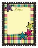 Molde do menu da mola Foto de Stock Royalty Free