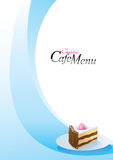 Molde do menu da sobremesa Fotos de Stock Royalty Free