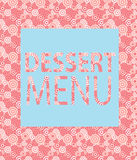 Molde do menu da sobremesa. Ilustração do vetor Imagens de Stock Royalty Free