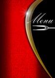 Molde do menu - ouro vermelho e preto Imagens de Stock Royalty Free