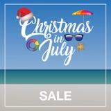 Molde do mercado da venda do Natal em julho Fotos de Stock
