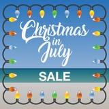 Molde do mercado da venda do Natal em julho Imagem de Stock Royalty Free