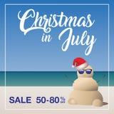 Molde do mercado da venda do Natal em julho Imagem de Stock