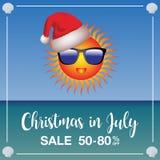 Molde do mercado da venda do Natal em julho Fotos de Stock Royalty Free