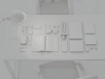 Molde do modelo Grupo de elementos de marcagem com ferro quente no fundo cinzento Fotografia de Stock Royalty Free
