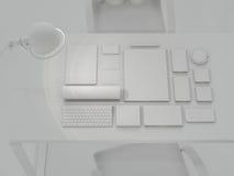 Molde do modelo Grupo de elementos de marcagem com ferro quente no fundo cinzento Foto de Stock