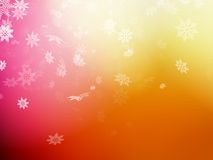 Molde do Natal no fundo alaranjado Eps 10 Imagens de Stock Royalty Free
