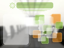 Molde do negócio com camadas transparentes Imagens de Stock Royalty Free