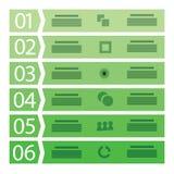 Molde do negócio com seis etapas Foto de Stock