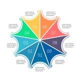 Molde do negócio de Infographic Fotografia de Stock