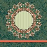 Molde do ornamental do vintage do círculo Fotografia de Stock Royalty Free