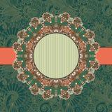 Molde do ornamental do vintage do círculo Foto de Stock