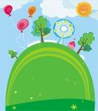 Molde do parque do verão. Imagens de Stock