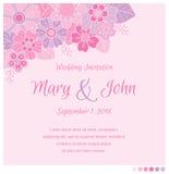 Molde do projeto do convite do casamento Foto de Stock Royalty Free