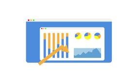 Molde do projeto da bandeira da Web que mostra a informação a 2d animação lisa