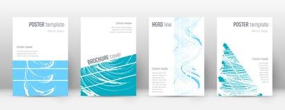 Molde do projeto da capa Disposição geométrica do folheto Capa abstrata na moda corajosa Rosa e azul ilustração do vetor