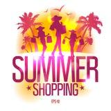 Molde do projeto da compra do verão. Fotos de Stock Royalty Free
