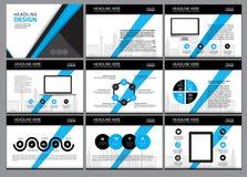 Molde do projeto da disposição de página para a apresentação e folheto, informe anual, página do inseto com elemento infographic Foto de Stock Royalty Free