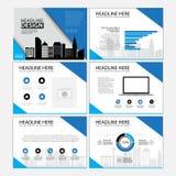 Molde do projeto da disposição de página para a apresentação e folheto, informe anual, página do inseto com elemento infographic Fotos de Stock Royalty Free