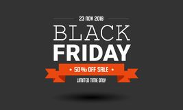 Molde do projeto da etiqueta da venda de Black Friday imagens de stock royalty free