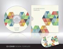 Molde do projeto da tampa do CD. Fundo abstrato. ilustração stock