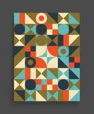Molde do projeto da tampa para anunciar Projeto geométrico colorido abstrato ilustração do vetor