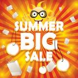 Molde do projeto da venda do verão Imagens de Stock Royalty Free