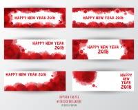 Molde do projeto de cartão com texto moderno por 2018 anos novos Foto de Stock Royalty Free