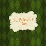 Molde do projeto de cartão do dia de Patrick de Saint Fotografia de Stock