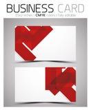 Molde do projeto de cartão do vetor CMYK Fotografia de Stock Royalty Free