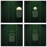 Molde do projeto de cartões do menu do restaurante editável Fotografia de Stock Royalty Free