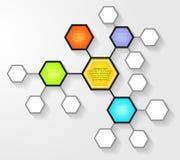 Molde do projeto de Infographic Fotos de Stock