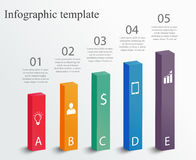 Molde do projeto de Infographic Foto de Stock Royalty Free