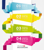 Molde do projeto de Infographic, bandeira do origâmi Imagens de Stock