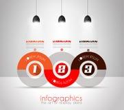 Molde do projeto de Infographic com estilo liso moderno Fotografia de Stock