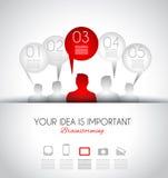Molde do projeto de Infographic com estilo liso moderno Foto de Stock Royalty Free