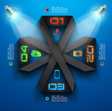 Molde do projeto de Infographic com etiquetas de papel. Imagem de Stock