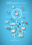 Molde do projeto de Infographic com etiquetas de papel Imagem de Stock Royalty Free