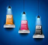 Molde do projeto de Infographic com 3 projetores Fotografia de Stock Royalty Free