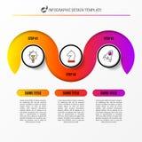 Molde do projeto de Infographic Conceito criativo com 3 etapas ilustração royalty free