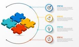 Molde do projeto de Infographic Conceito criativo com 4 etapas ilustração royalty free