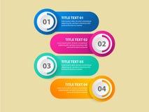 Molde do projeto de Infographic, conceito do negócio com 4 etapas ou opções, fotos de stock